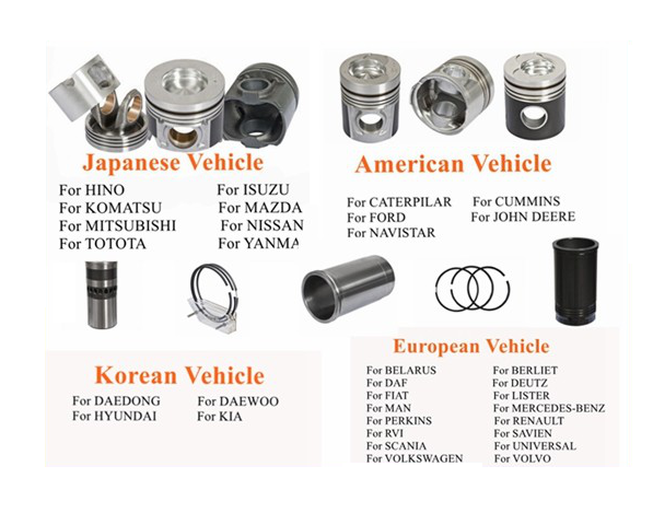 15 years factory free sample automotive diesel engine parts for HINO P11C 2723-0230  piston
