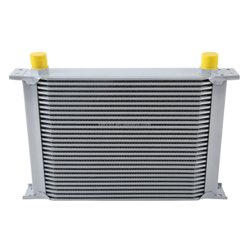 TCMT XF230509-SL SILVER UNIVERSAL 28 ROW AN-10AN ENGINE TRANSMISSION RACING OIL COOLER BRITISH
