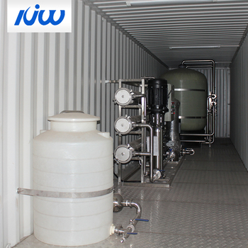 Containerized Industrial Water Wastewater Treatment Plant Equipment Filtration System Construction