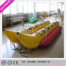 China Lily Toys Cheap Inflatable Boat Price Customized Certification CE/EN14960/SGS Inflatable Banana Boat For Sale