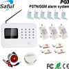 2015 new product wireless dual-network digital gsm home security smoke alarm system
