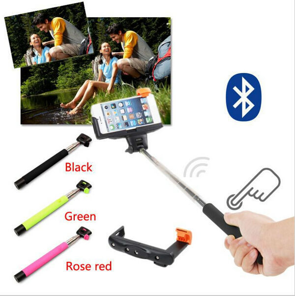 10 Pcs Extendable Handheld Selfie Stick Wireless Bluetooth To Self Monopod For