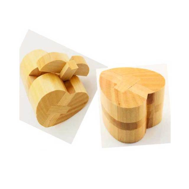Montessori School Heart Shape Wooden Brain Teasers Home Decor Diy Craft For Children Toy