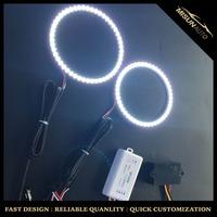 RGB Multi-Color LED Angel Eyes Halo Rings Kit For 2007-2013 BMW E82/E88 128i 135i Factory Xenon Adaptive HID Headlight