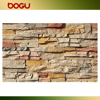 artificial slate stone fire resistant brick wall panel