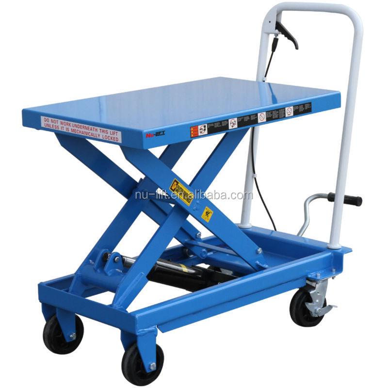 Mobile Manual Hydraulic Scissor Lift Table Trolley Buy