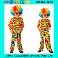 halloween carnival child suit dot pattern professional kids clown costume for boy
