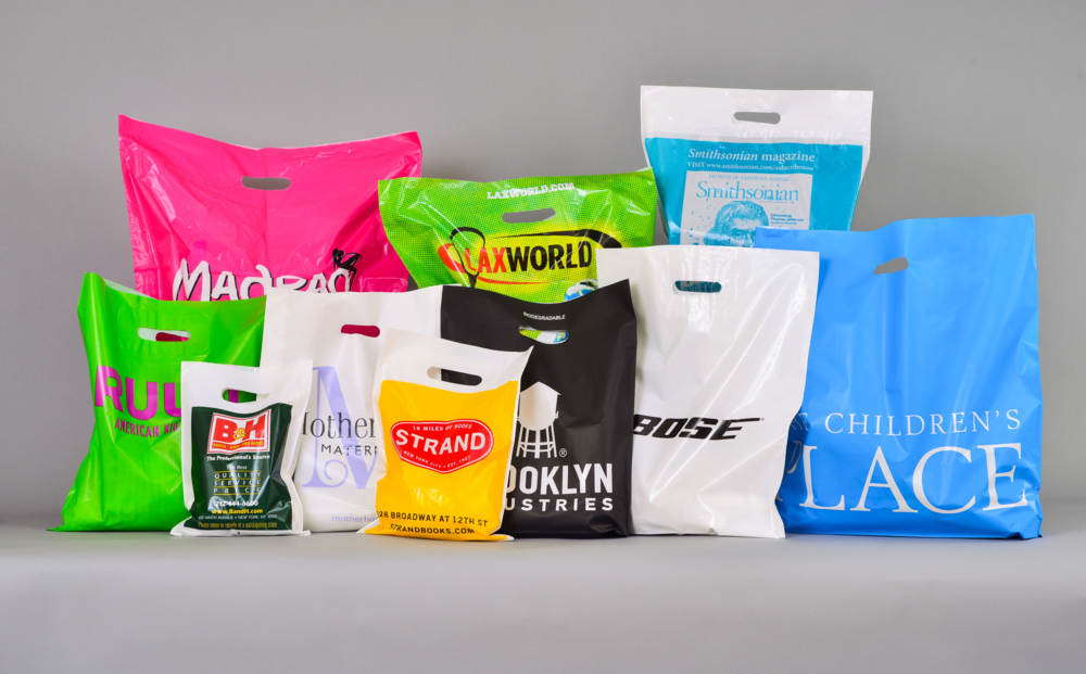 Transparent Printing Hand Carry Reusable Shopping Plastic Bag