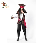 2019 high quality new design hot selling adult man top and pants costume halloween Pirates Costume halloween costume