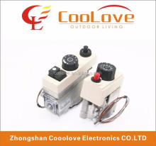 Multifunctional thermostatic control valve for gas stoves