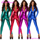 Wholesale 4 Colours Mermaid Long Sleeves Sexy Leather Catsuit Latex