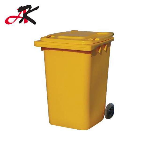 Eco-Friendly Reclaimed Material Plastic Dustbin With Wheels/ Recycling Steel Medical Trash Container Waste bin