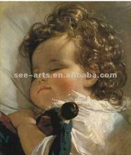 2012 Hot selling famous baby oil painting/ wall hanging picture