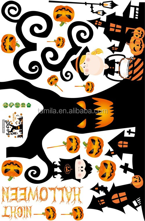 2016 New Arrival Halloween stickers Halloween sticker