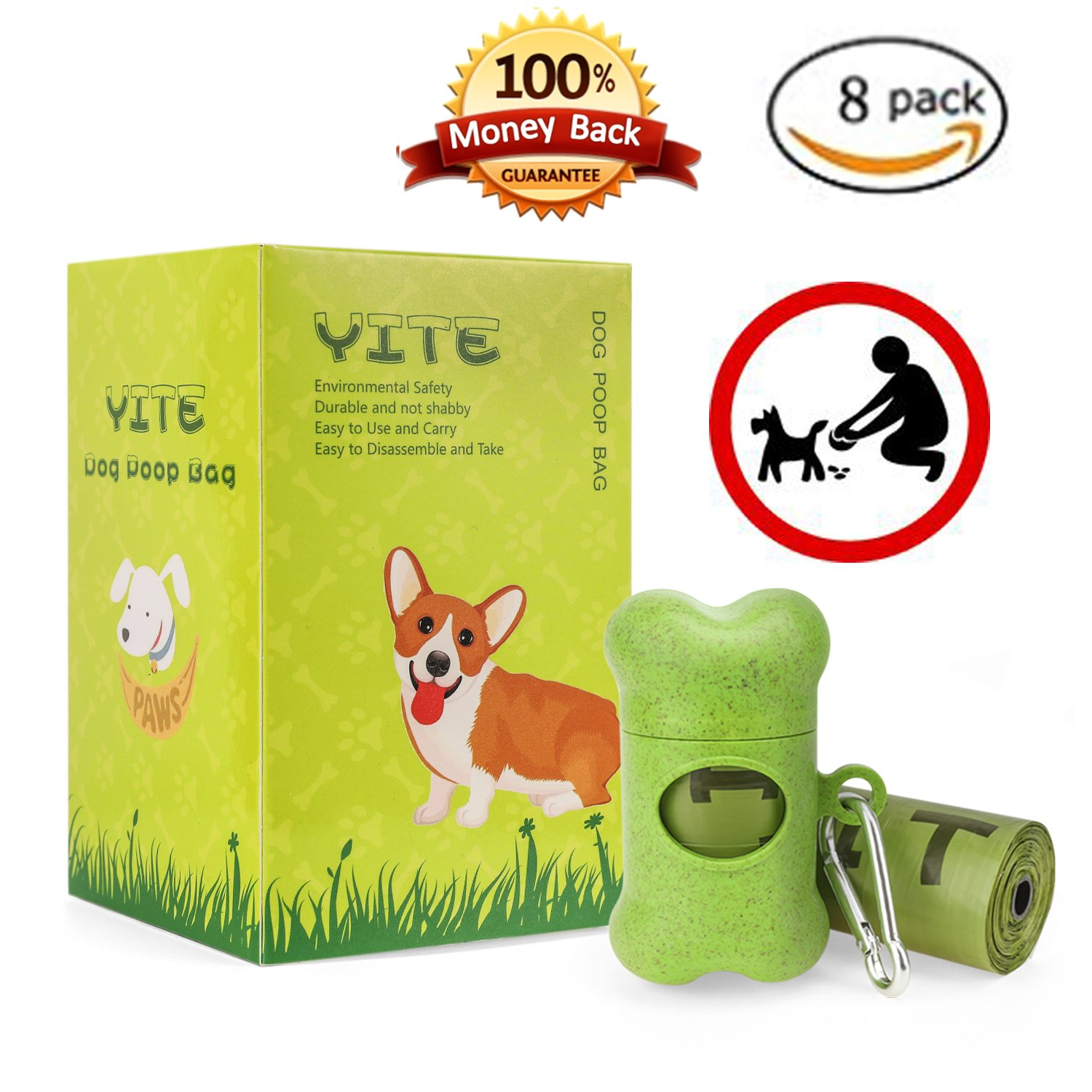 Get Quotations Yite Dog Bags Waste Doggy 8 Rolls 120 Pet