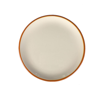 High quality Chinese products plastic dinner plate with yellow rim