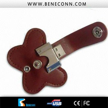 Special Leather usb stick !16GB Beautiful flawer