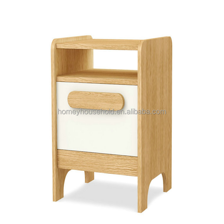 Scandinavian Wooden Bedstand Children Room Furniture Storage Cabinet Wooden Kids Nightstand