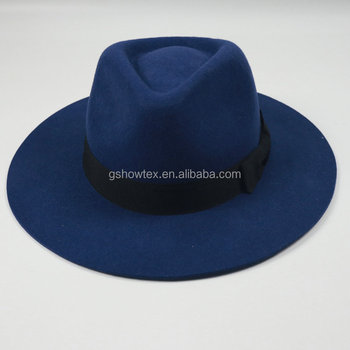 4f06ed29e35f4 Oem Custom Made Wool Felt Fedora Hat