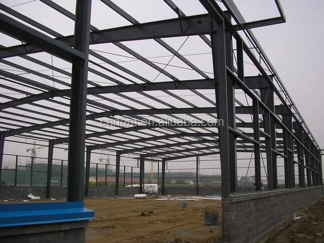 High strength low cost steel structure warehouse sandwich panel wall warehouse