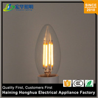 Various Styles Filament E14 Lamp C35 Led Decorative Light Bulb