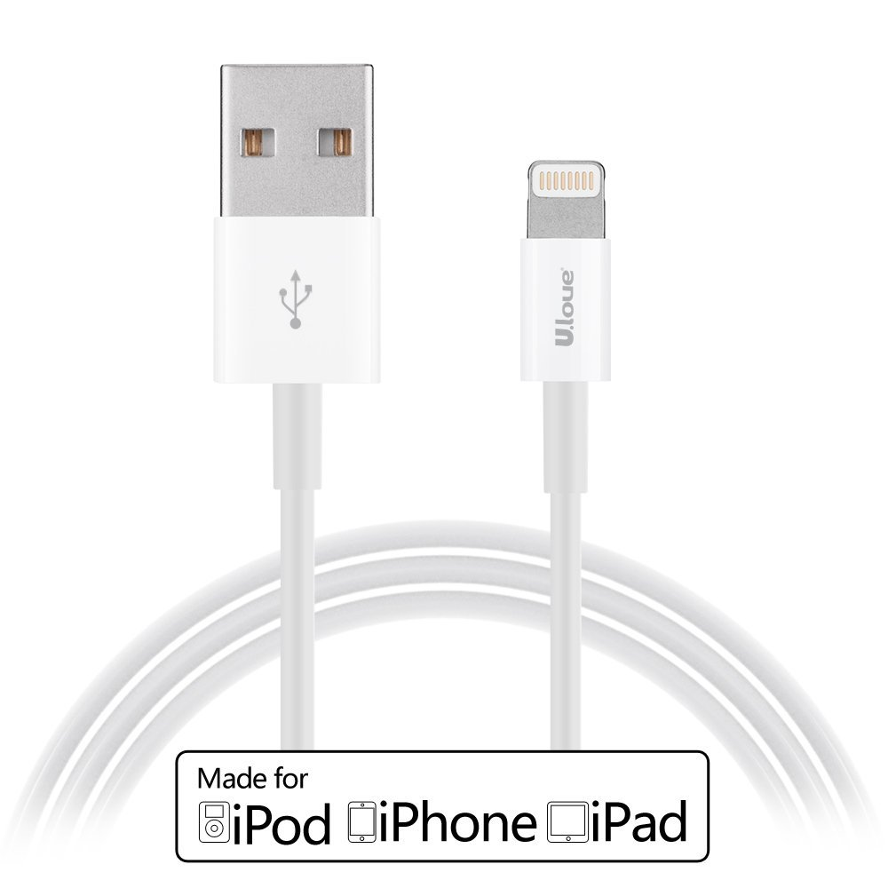 [Apple MFI Certified] U.love ® 3ft (Three Feet) Lightning Cable 8 pin to USB SYNC Cable Charger Cord for Apple iPhone 5 / 5s / 5c / 6 / 6 Plus / 6s / 6s Plus, iPod 7, iPad Mini / mini 2/ mini 3, iPad 4 / iPad Air / iPad Air 2(Compatible with iOS 9) [White]