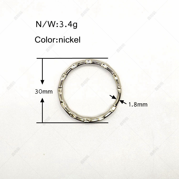 Wholesale Identification hanging ring 30mm split ring