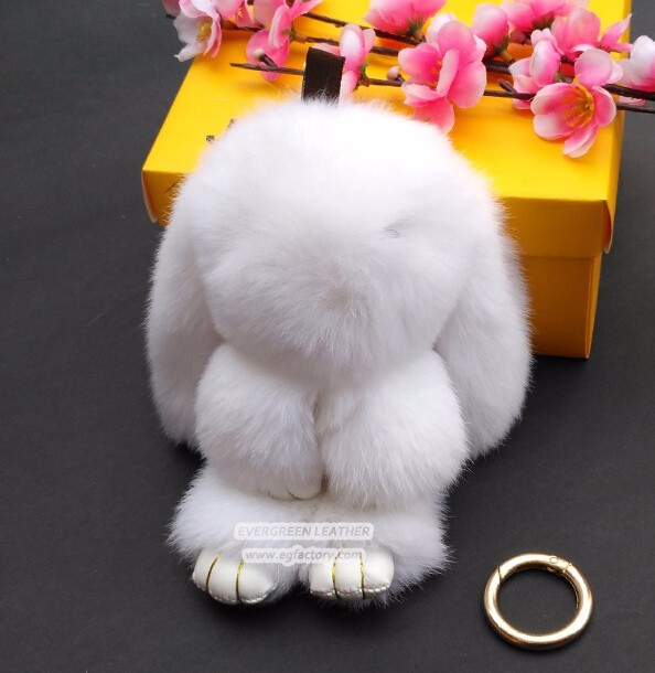 Real hair Rabbit women bags decoration accessory FT045