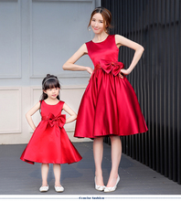 2016 spring family fashion clothes for mother and daughter formal dress set child princess dress children