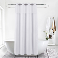 Factory Direct Custom Hookless Polyester Shower Curtain for Hotel Shower Curtain Liner