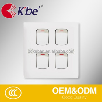 4 gang 1 way swich british standard electrical switch buy switch