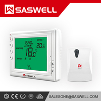 Saswell Touch WIFI Key Menu Button Bacnet Remote Controller Floor Heating Electric Heater and Boiler Thermostat