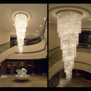 Zhongshan Modern Pendant Light Spiral crystal Beads chandelier