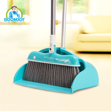 BOOMJOY CLEANING TOOLS HIGH QUALITY PP PLASTIC ALUMINIUM HANDLE BROOM AND DUSTPAN SET