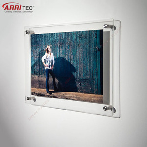 wall mount acrylic photo frame wholesale display hanging picture frame acrylic