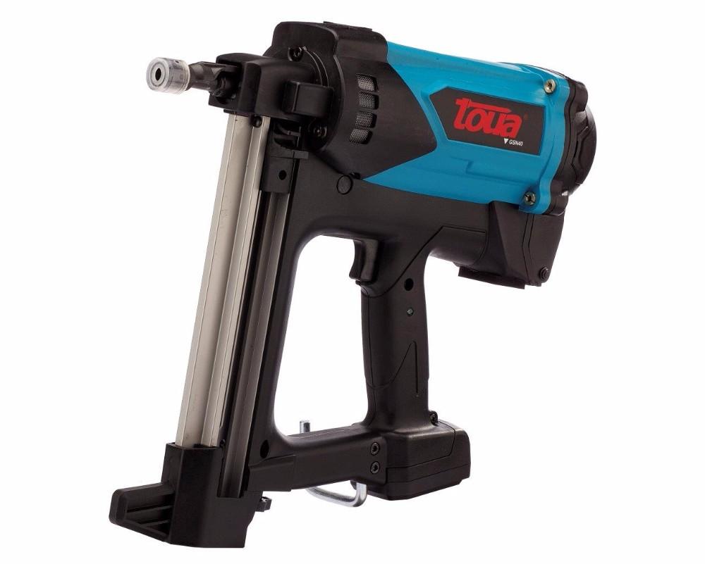 Batteria al litio gas chiodatrice a gas di potenza senza fili gas pistola sparachiodi gsn40b per - Pistolet a clou ...