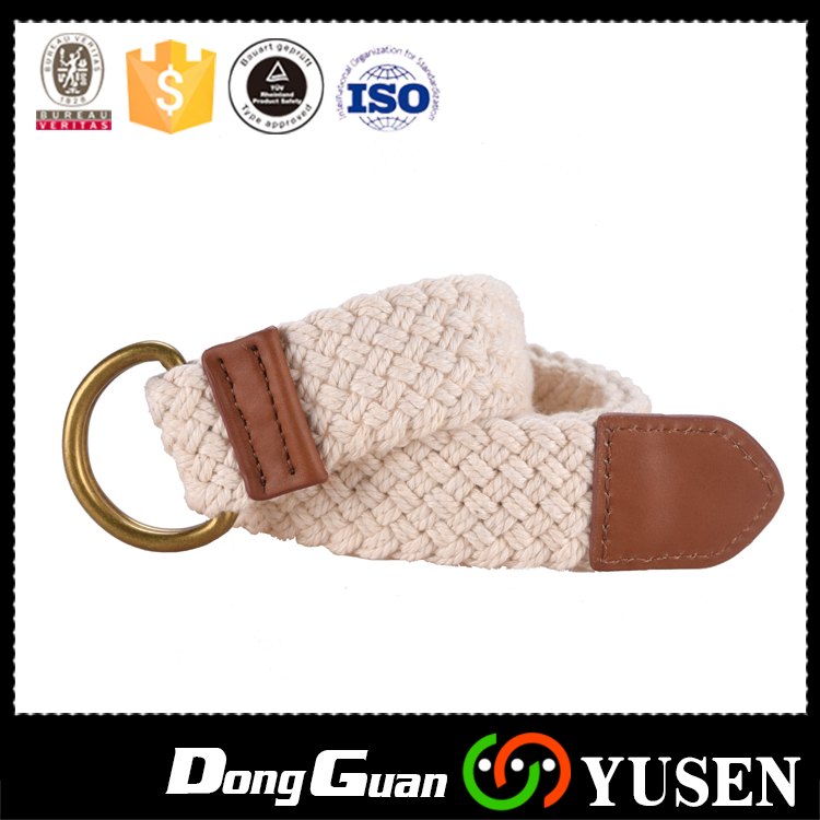 Latest New Stylish White Military Stretch Canvas belts with Double D ring