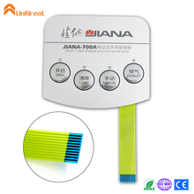 Illuminated membrane overlay switch tactile keypad suppliers for Tester Machine