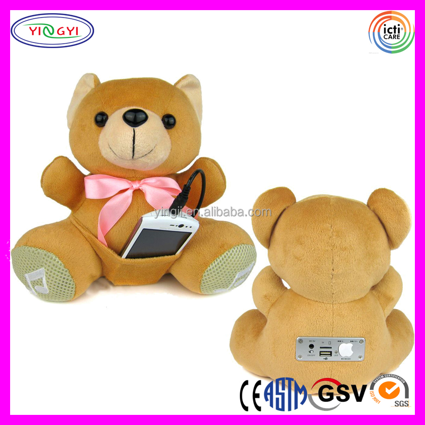 A049 Soft SD Card Reader Portable Audio Stuffed Bear Plush Toy MP3 Player