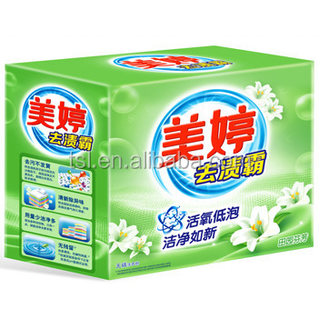 box packing detergent powder for automatic washing machine