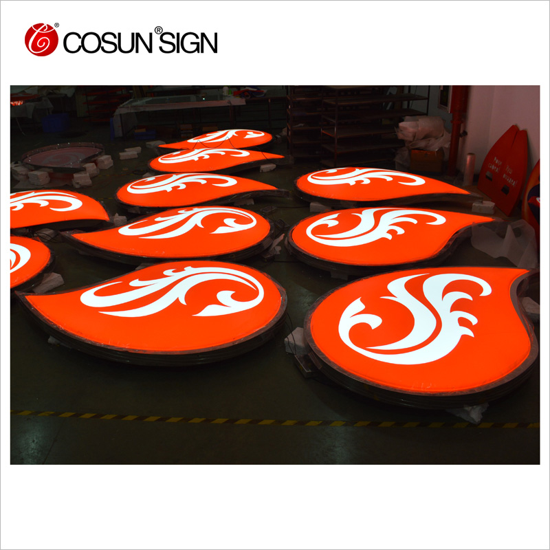 LED small plastic letters,vacuum forming large plastic light box letters