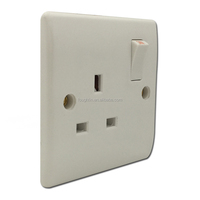 13A 1 gang switched socket british standard wall socket with switch