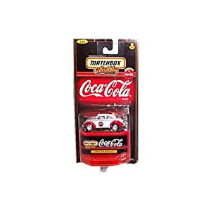 Matchbox Collectibles - Coca-Cola Collection - 1962 VW (Volkswagen) Beetle (White & Red) - 1:64 Scale