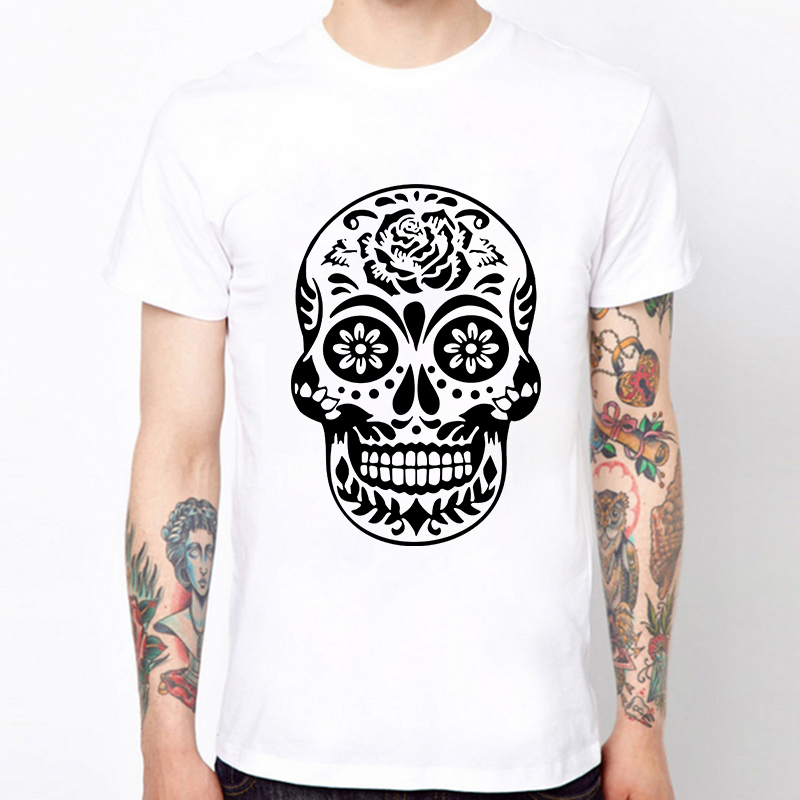 free shipping new design men t shirts skull printed cool t shirts summer cotton novelty male. Black Bedroom Furniture Sets. Home Design Ideas