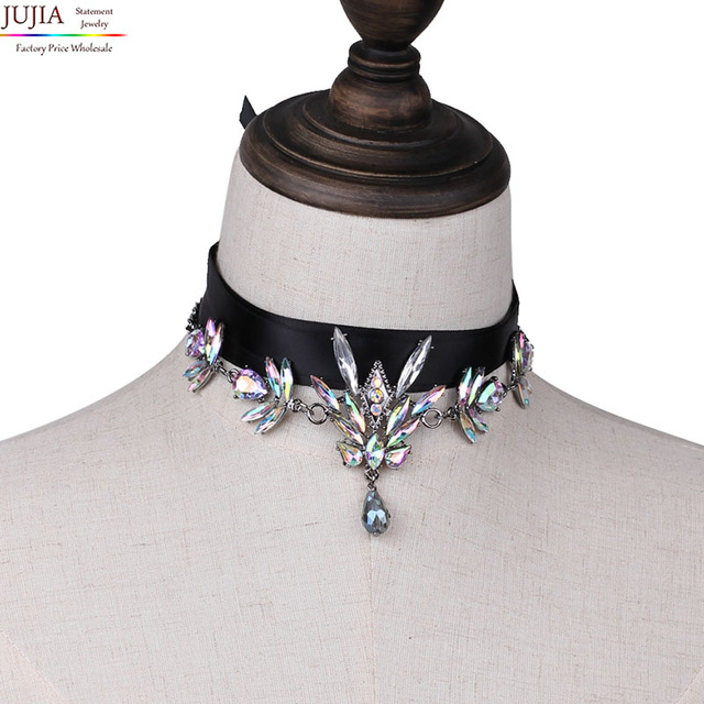2 colors New wholesale Hot sale choker necklace maxi torques fashion statement Necklace for women