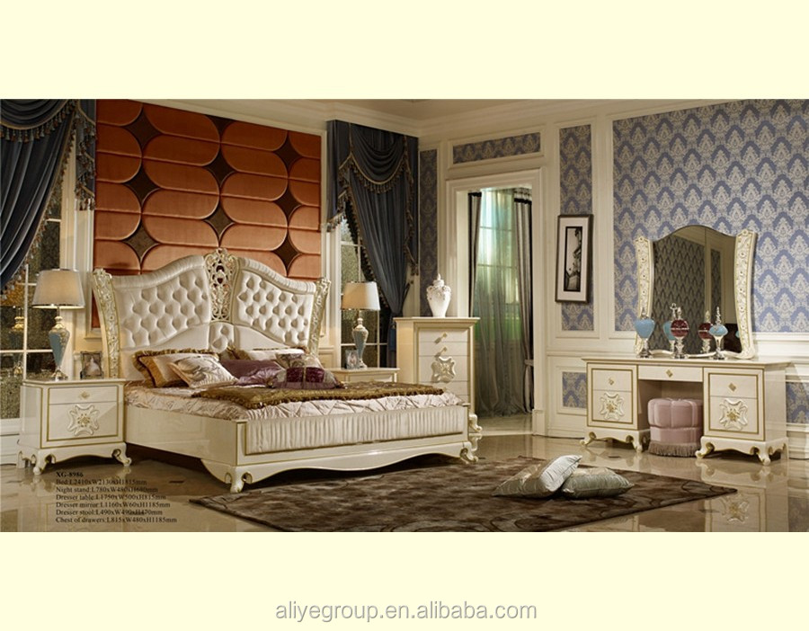 H8985 French Style Luxury Bedroom Furniture Set White Buy Classic Black High Gloss Bedroom
