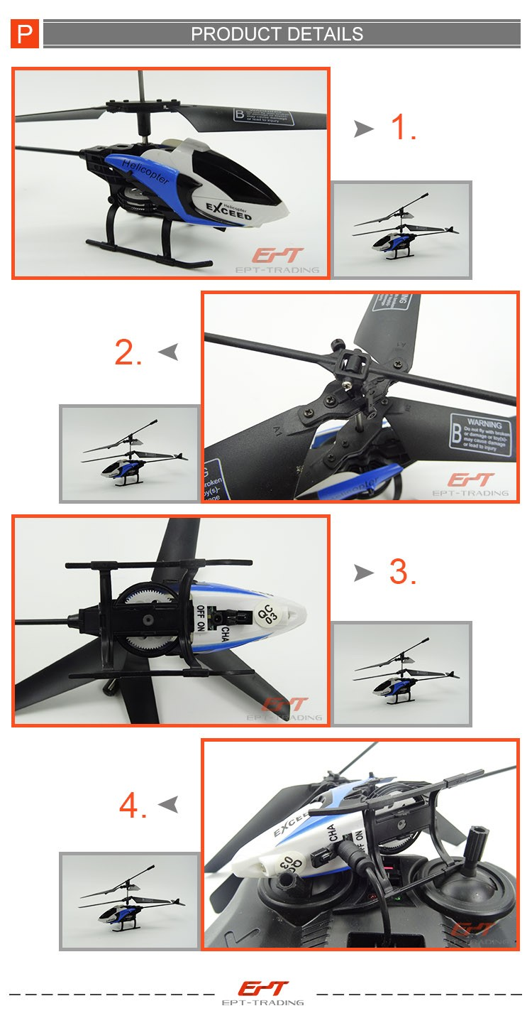 2.4g remote control rc helicopter with light
