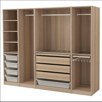Modern Wooden Bedroom Closet Open Style Storage Closet Drawer Clothes  Wardrobe - Buy Wooden Bedroom Closet,Storage Closet Drawer,Open Style  Clothes ...