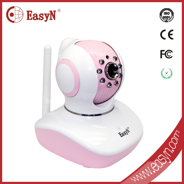 ODM Network 3X Zoom day night vision email alarm wifi cmos sensor 720p mini Pink latest technology hd camera housing