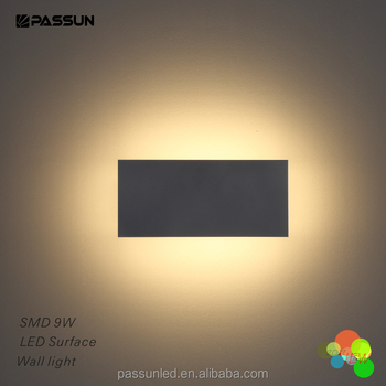 Aluminium And Acrylic Cube Shape Flat Panel Led Wall Light For ...